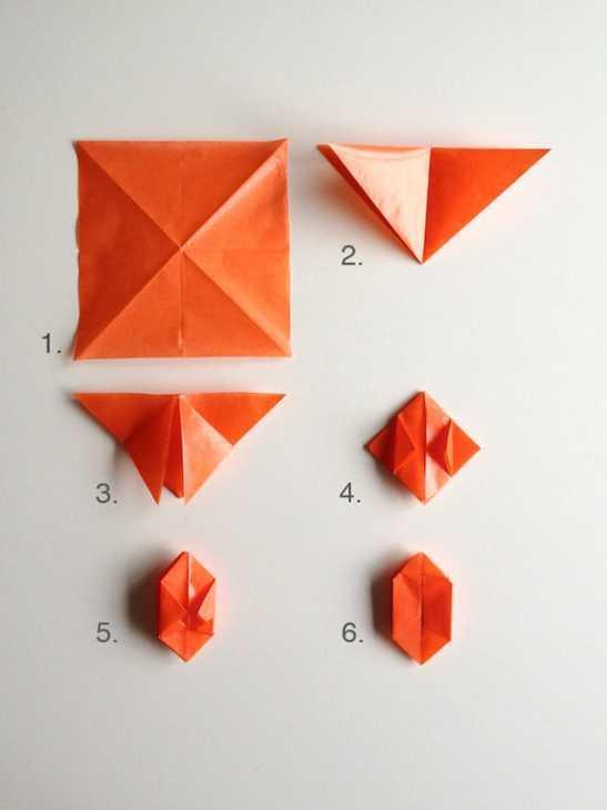 Zucche di Halloween origami: tutorial, da handmadecharlotte.com