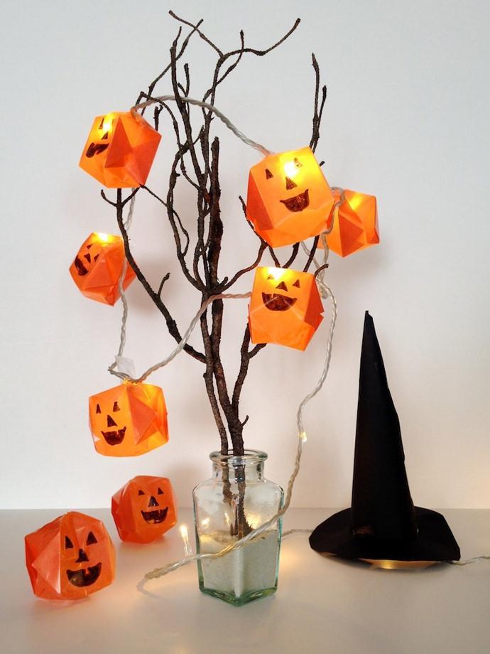 Luminarie a forma di zucca da Halloween, by handmadecharlotte.com