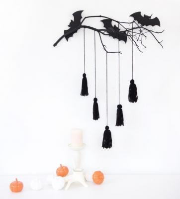Disegni halloween: ramo di pipistrelli by damasklove.com