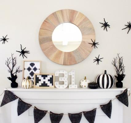 Decorazioni Halloween total black, da eighteen25.com