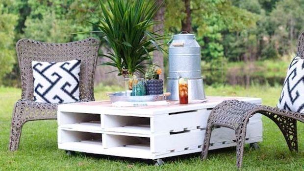 Costruire Un Tavolo Da Giardino.Tavolino Da Esterno Fai Da Te