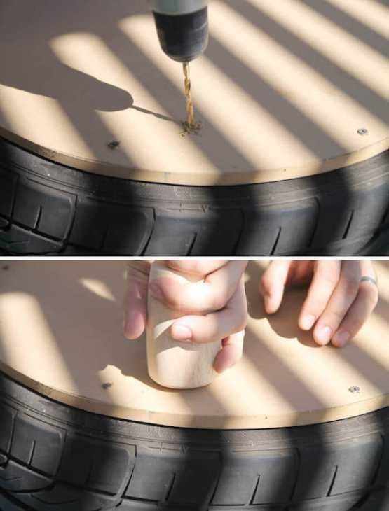 Tavolo giardino con vecchio pneumatico: passo 1, da persialou.com