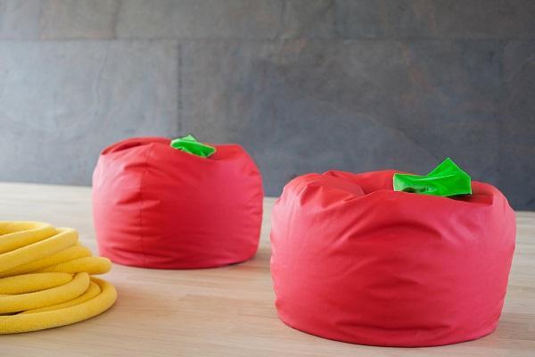 Pouf Pomodoro di Barbi Bottazzi