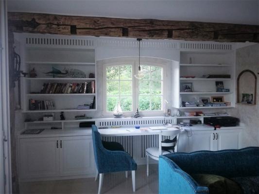 La libreria in legno su misura, oggi (ph.credits Firma,E.D.)