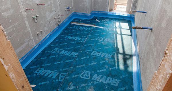 Sistema di isolamento acustico per pavimenti Mapesilent di Mapei