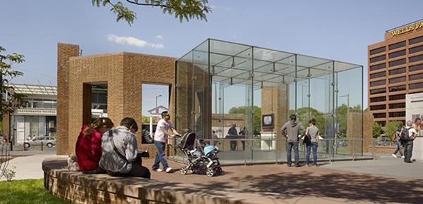 Vetro antiriflesso OptiView™ di Pilkington nell'architettura outdoor
