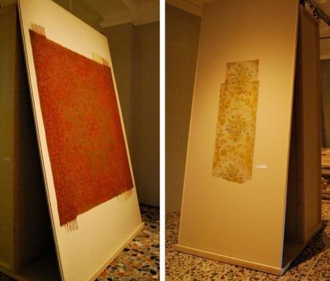 Tessuti antichi protetti da vetri antiriflesso Museum Glass di Vetroservice