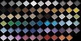Le 65 possibili colorazioni Vetri antiscivolo satinati Ice Metal di Brecci Glass