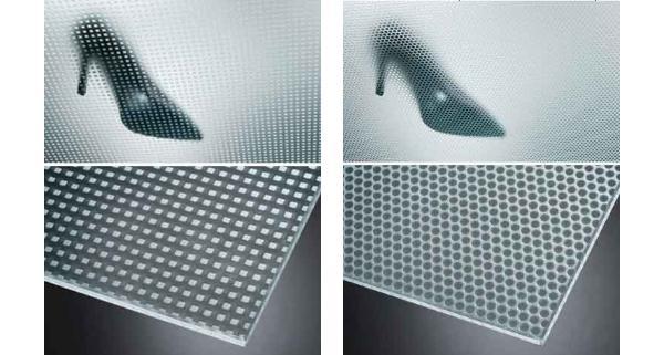 Pavimenti antiscivolo di Masi Glass con pattern geometrici