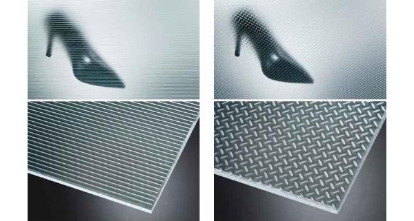 Vetri antiscivolo con texture in rilievo di Masi Glass