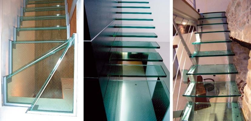 Scale in vetro antiscivolo by Laborvetro