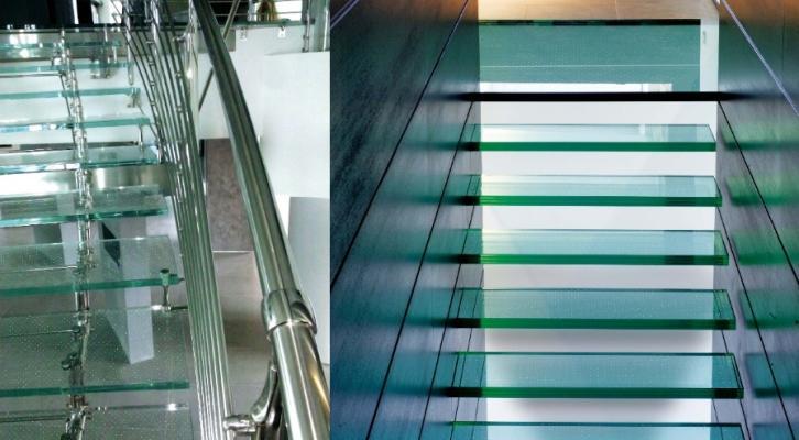 Scale in vetro antiscivolo realizzate da Laborvetro