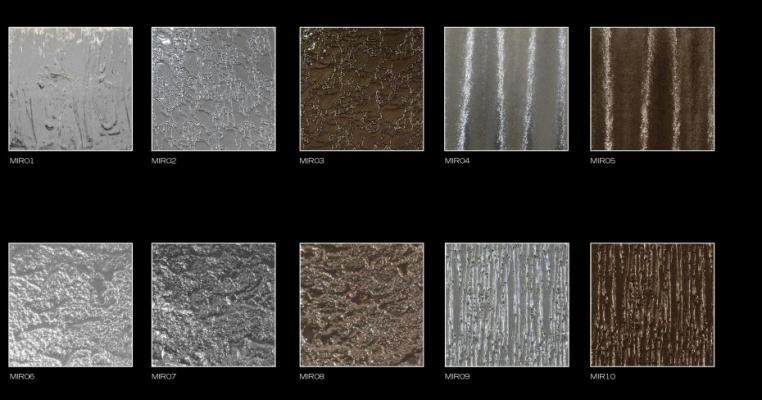 Texture e colorazione della linea di vetri antiscivolo tridimensionali Unicolor Splendor di Brecci Glass