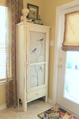 Idee per decorare un mobile di recupero, da lindycottagehill.blogspot.com
