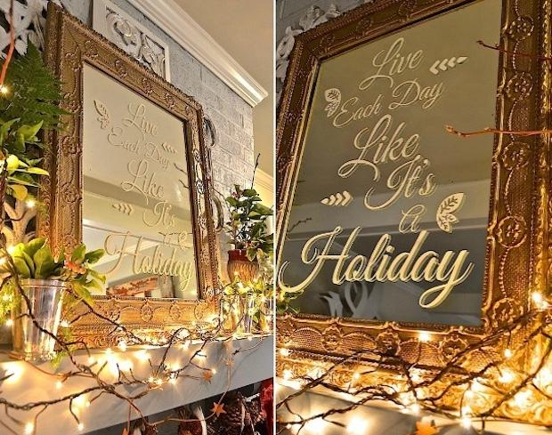 Stencil su specchio: decori natalizi, da paintandpattern.com