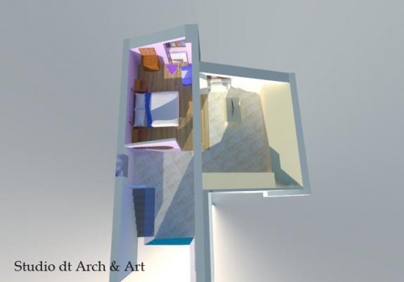 Progetto piano mansarda camera da letto