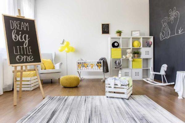La camera dei bambini deve avere zone separate per le varie attività