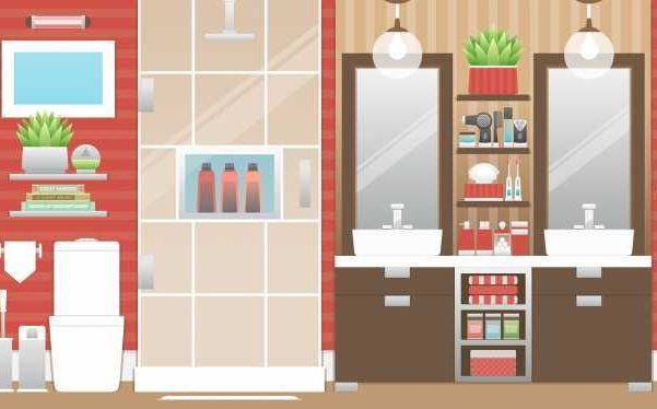 La doccia può essere un divisorio tra la zona del WC e quella dei lavabi