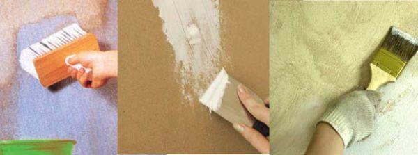 Perline: la fase preparatori della parete