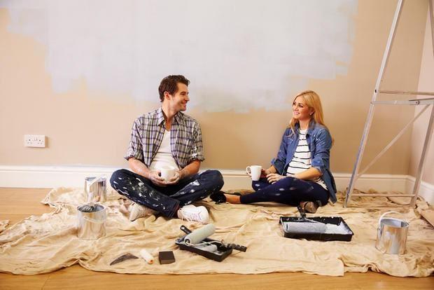 Come Dipingere I Muri Interni Di Casa.Tinteggiare Pareti E Soffitto