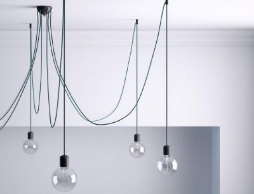 Lampadario sospensione fai da te - Creative Cables