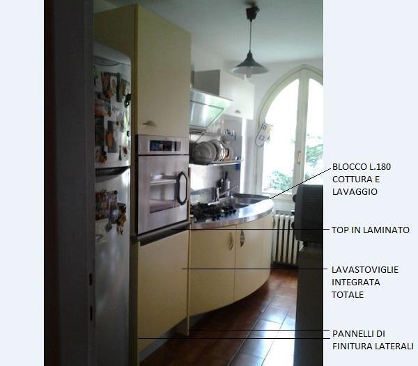 La nuova situazione: colonna alta con forno e lavastoviglie