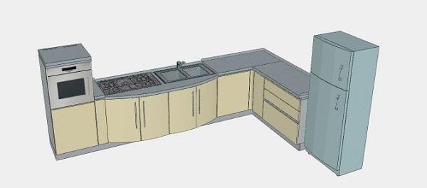 Schema compositivo per la lavastoviglie della cucina originaria