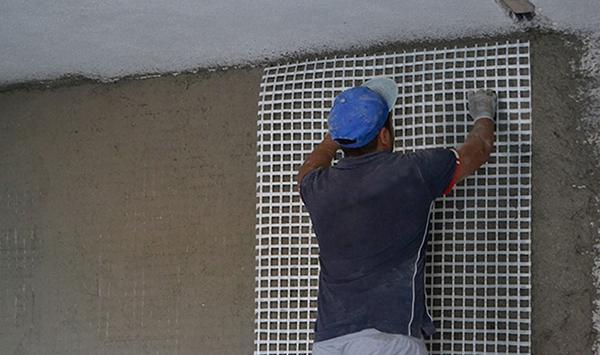 Intonaco armato rete fibra vetro Kimia