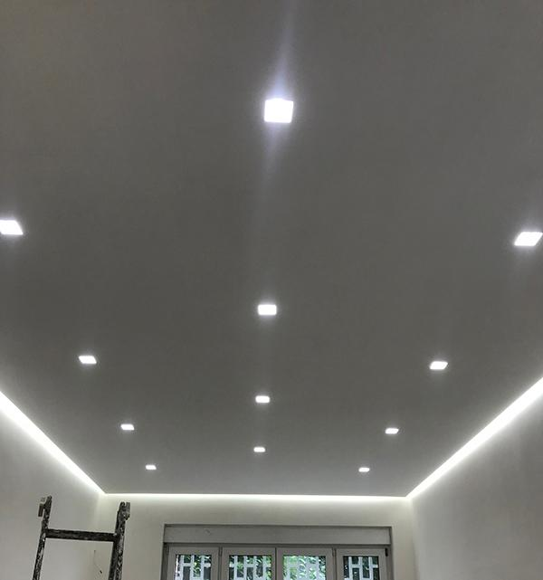 Controsoffitto cartongesso led design