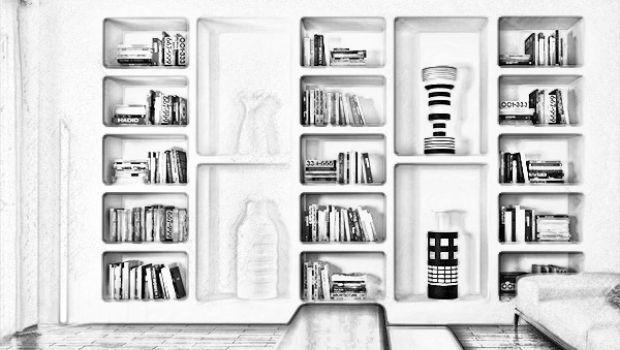Costruire Mensole Per Libreria A Muro.Parete Attrezzata In Cartongesso Idee Originali