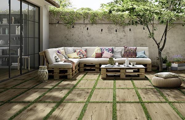 Pavimenti per esterni gres effetto legno Ragno
