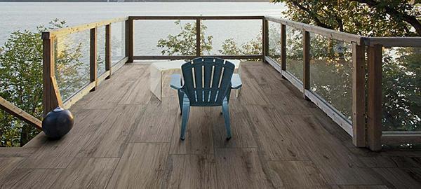 Pavimenti per esterni Ragno gres porcellanato effetto legno