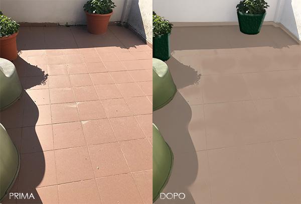 Pavimento balcone progetto Enkos srl