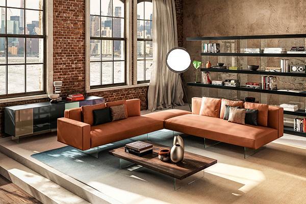 Arredamento divano Lago Air arancio