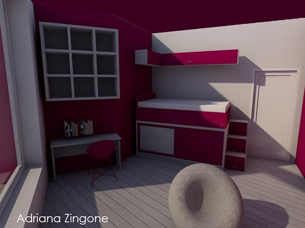 Arredare casa con colore render di progetto