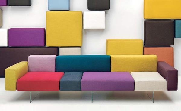 Idee di arredo divano Lago Air modulo colore