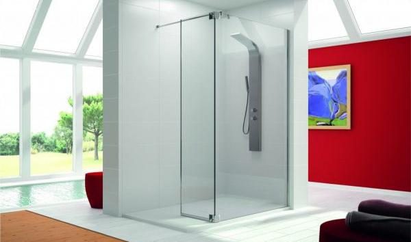 Box doccia walk in a forma di L di Experthbath