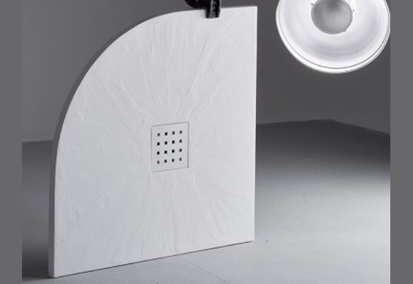 Piatto doccia Esbath salvaspazio semicircolare 80x80 di Expertbath