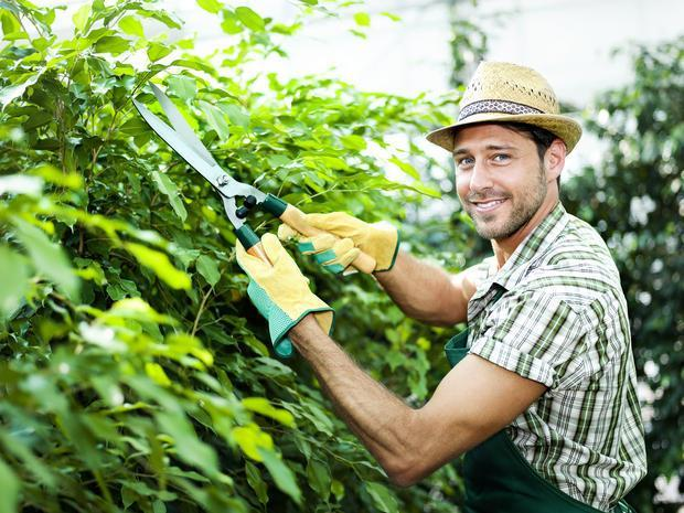 Cappello e guanti da giardino