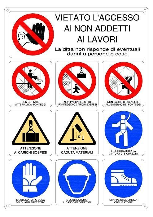Cartelli di sicurezza cantiere
