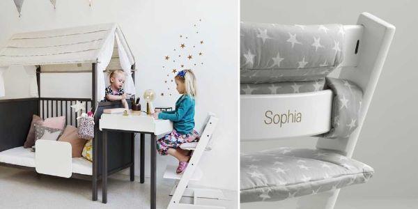 Sediolina per bambini e seggiolone di Stokke modello Tripp Trapp