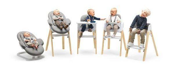 Sedie alte per bambini dalla nascita per la crescita Stokke Steps