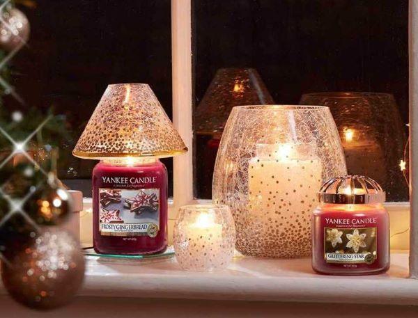 Ambienti natalizi con le candele a tema di Yankee Candle