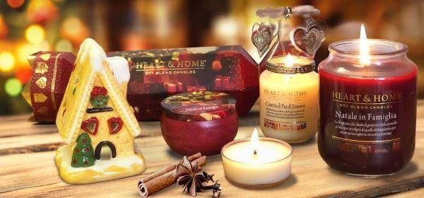 Atmosfera natalizia in casa con le candele Heart&Home