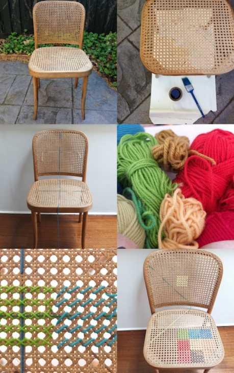 Decorare le sedie con la lana: tutorial, da mypoppet.com.au