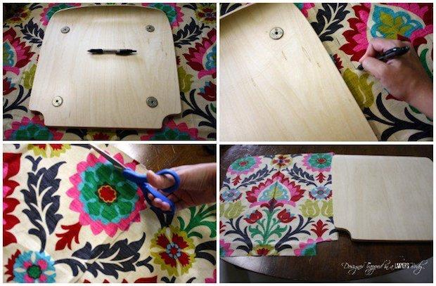 Come rivestire le sedie con la stoffa, da designertrapped.com
