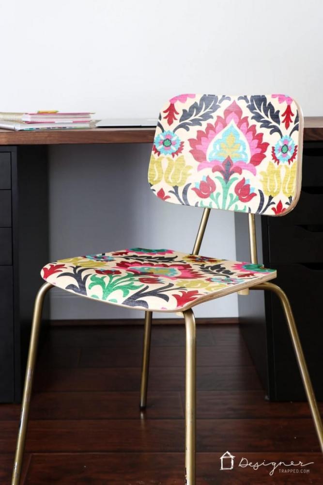 Rivestire le sedie con la stoffa, da designertrapped.com