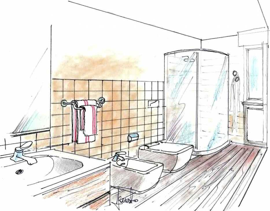 Idea per portasciugamani da parete in bagno stretto e lungo