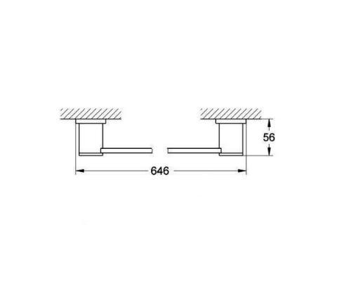 Porta salviette Grohe Allure: schema con misure
