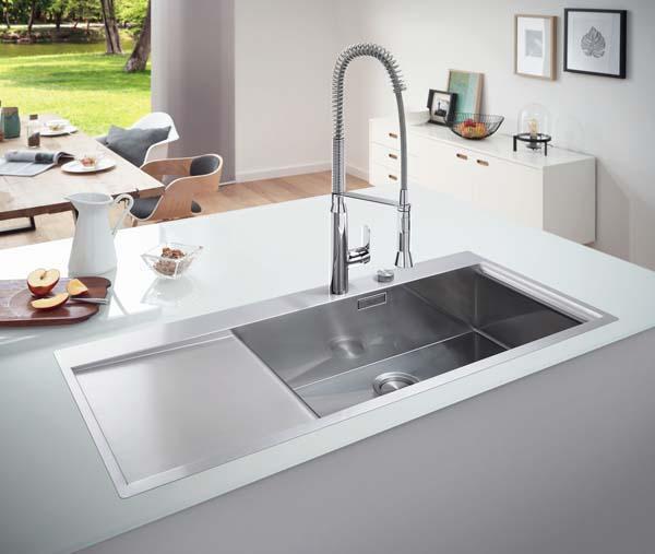 Tipi Di Lavelli Da Cucina.Il Lavello Forme E Materiali